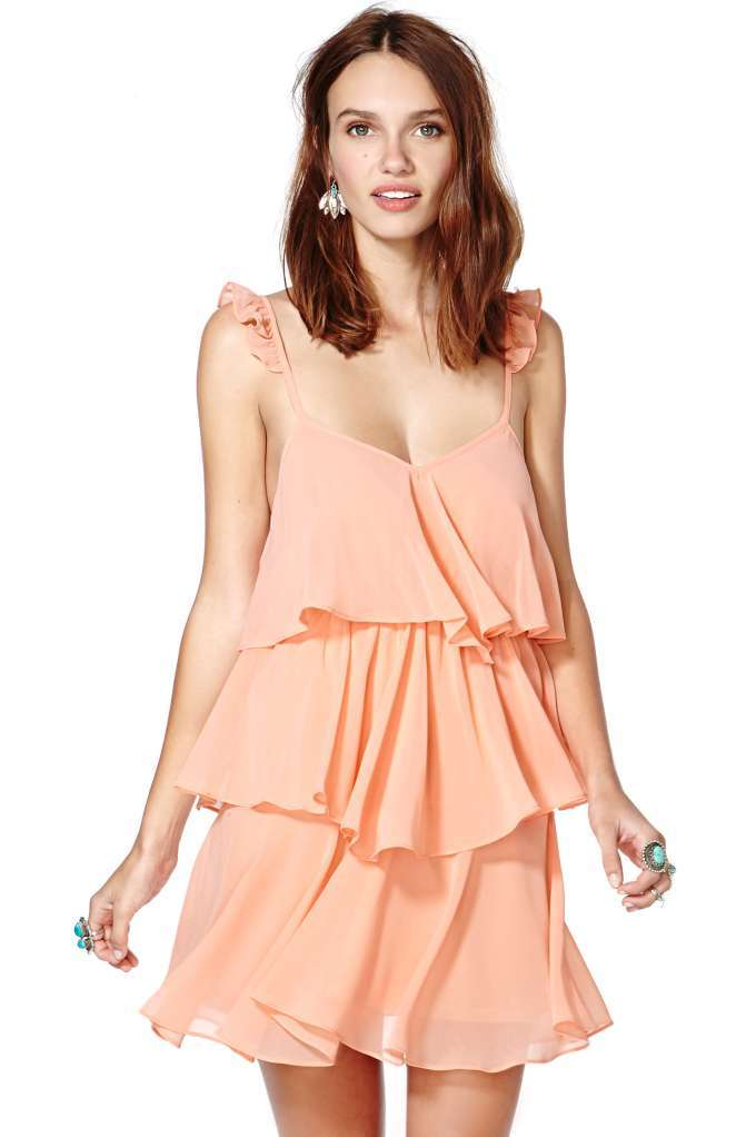 Nasty gal pretty in peach dress