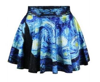 skirt starry night picasso dress art dress two piece art print starry night van gogh skater skirt printed skirt