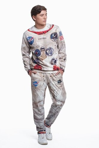 sweater astronaut suit space suit apollo suit space sweatsuit astronaut sweatsuit sweatpants printed sweater sweatshirt joggers menswear sport suit apollo sweatsuit style clothes fashion cool