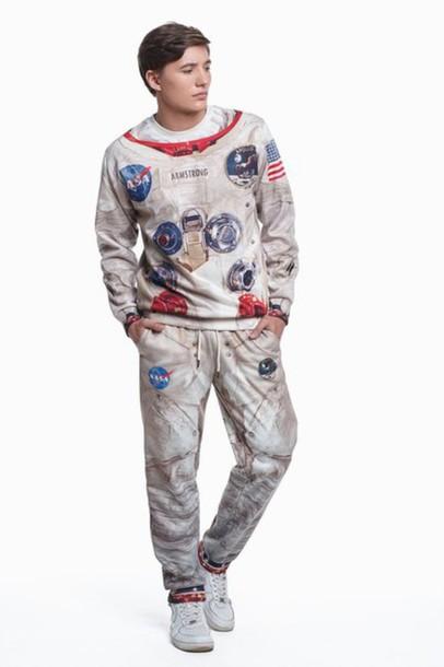 Sweater: astronaut suit, space suit, apollo suit, space ...