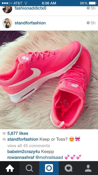 shoes nike running shoes pink shoes