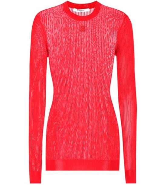 Givenchy 4G knitted sweater in red