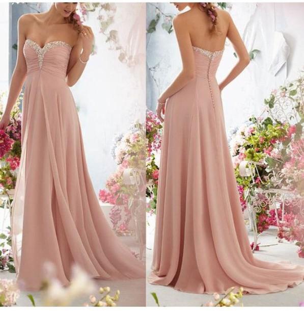 dress blush silver lining long prom dress