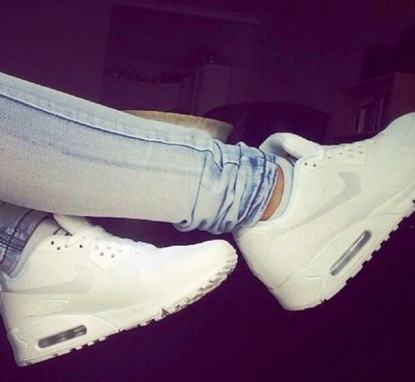 shoes air max jeans nike air max nike air force trainers air max white white nike airmax nike air light jeans skinny jeans white shoes