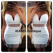 dress,white dress,party dress,lace dress,white lace dress,lace,plunge v neck,v neck dress,bodycon dress