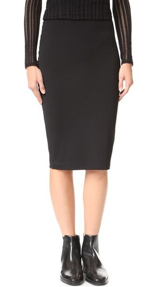 skirt high black