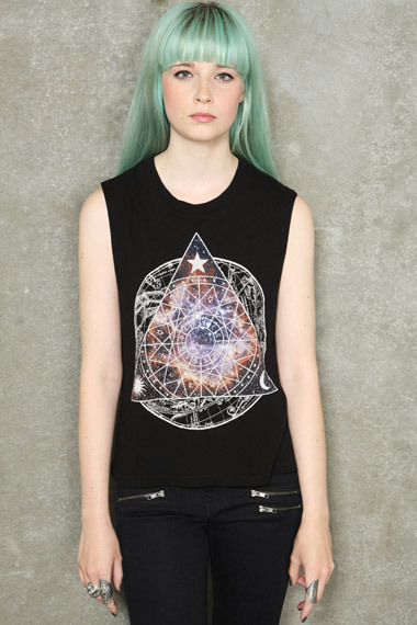 "Group of: Urban Outfitters - Truly Madly Deeply ""Cosmic Zodiac"" T-Shirt 