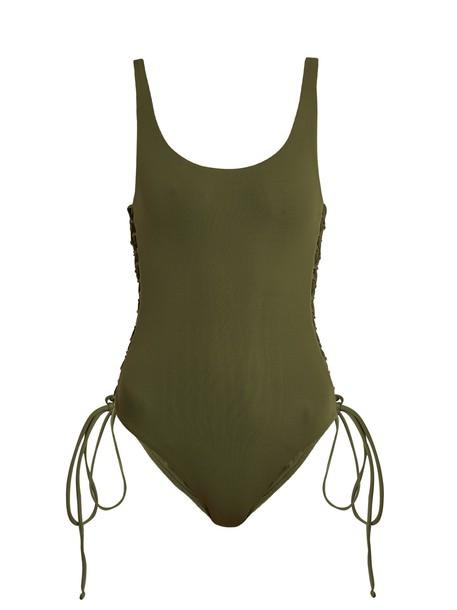 Melissa Odabash lace khaki swimwear