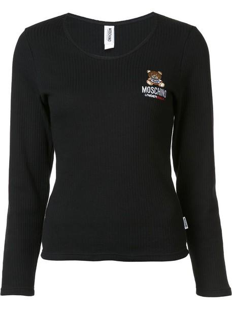 Moschino t-shirt shirt t-shirt women cotton black top