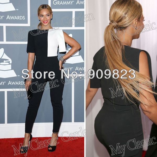 Aliexpress.com : Buy Hot Selling Grammys Beyonce Knowles Round O Neck Black And White Blend Designer Suits Jumpsuit Normal Jumpsuit from Reliable jumpsuit jeans suppliers on my classic garden | Alibaba Group