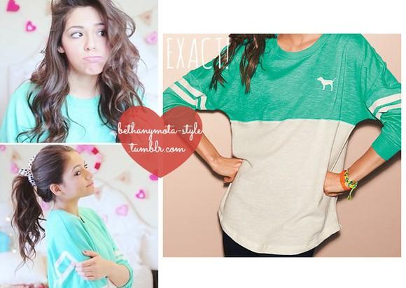 teal shirt pink brand