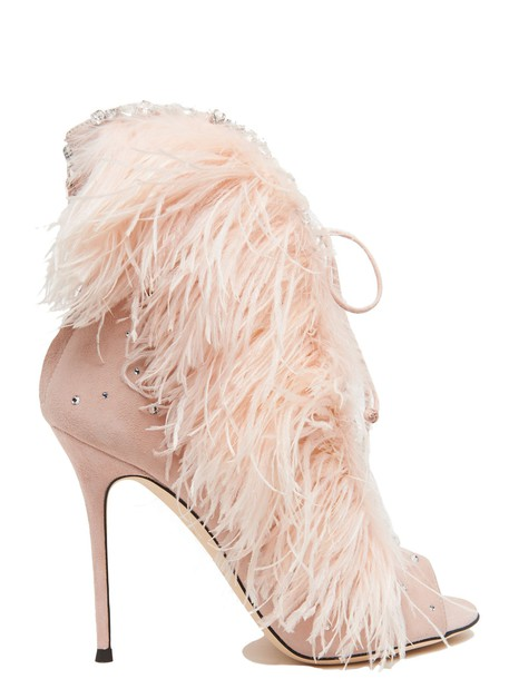 ankle boots pink shoes