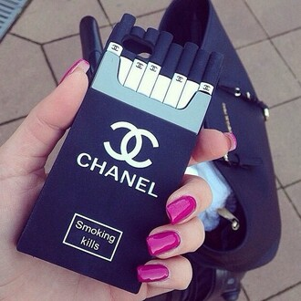 phone cover chanel fashion nail polish nails coco channel celebrity cute cool shoes heels black black and white bloomingdales macys iphone 4s