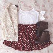sweater,skirt,shoes,top,lace 2 piece set