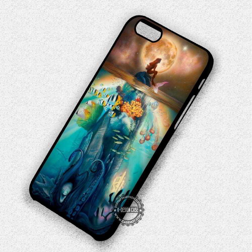 Ariel The Little Mermaid Moon Underwater Disney - iPhone 7 6 Plus Cases & Covers