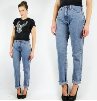 jeans boyfriend boyfriend jeans high waisted jeans high waisted vintage 90s style mom jeans