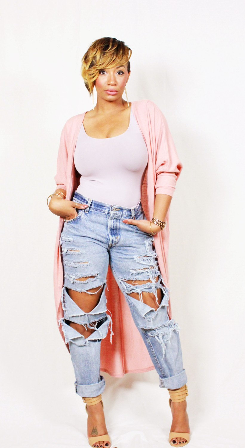 Boyfriend ripped cut out distressed