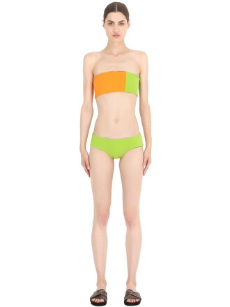 bikini black green orange swimwear