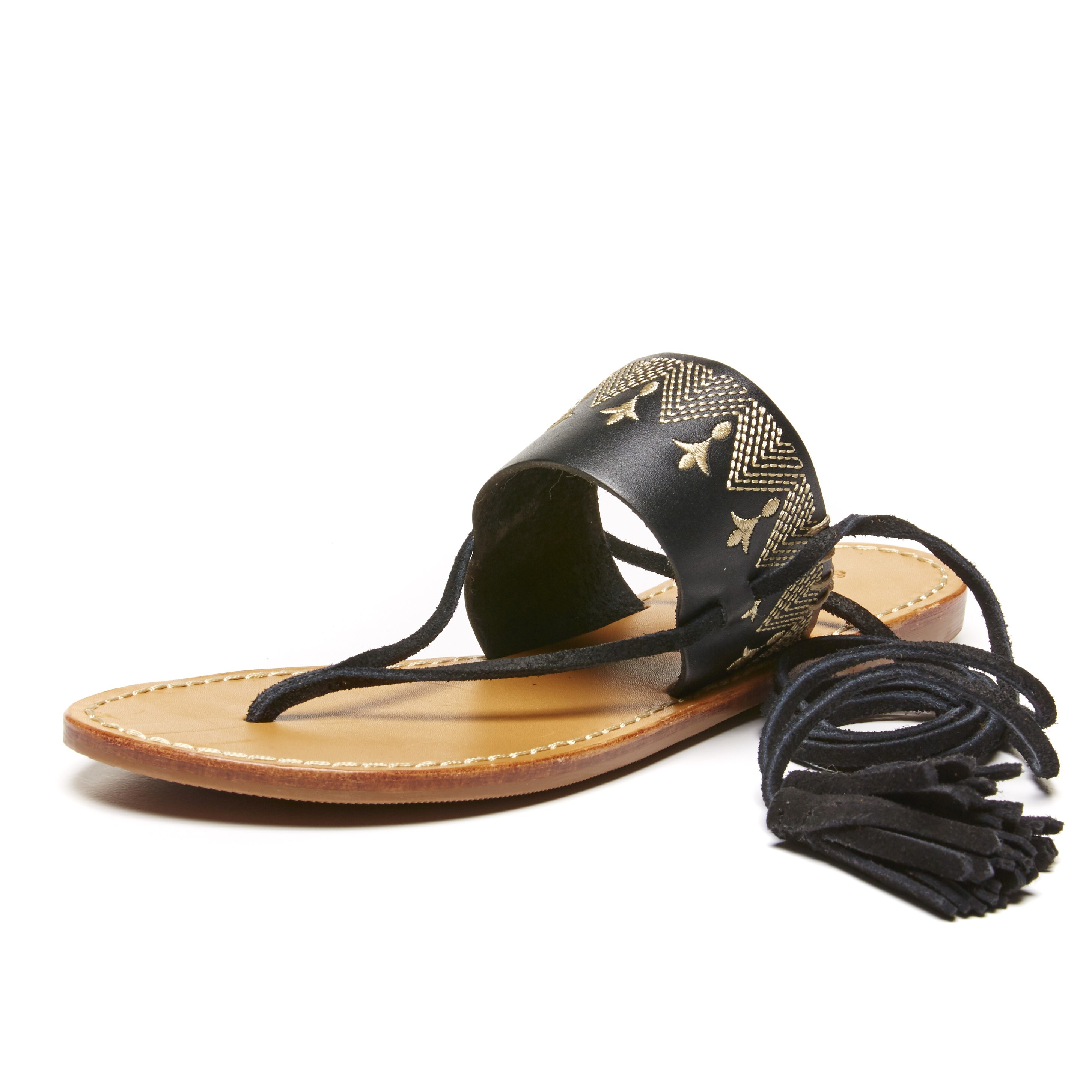 9b8e94bc9246 Soludos Leather Black Flat Lace Up Sandal for Women - Soludos ...