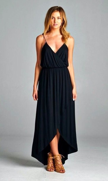 Girls Black Maxi Dress