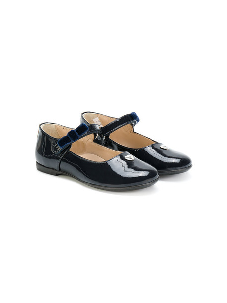 Armani Junior heart leather blue shoes