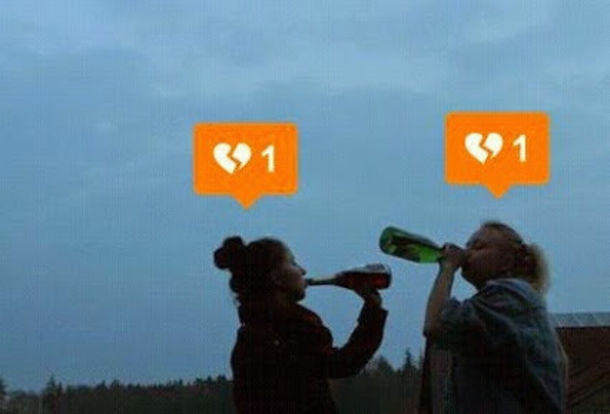 instagram tag like instalike broken brokenheart brokenhearted orange notification app make-up