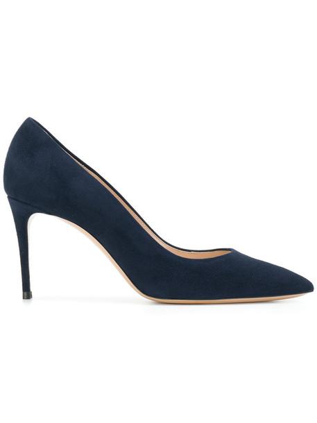 CASADEI women perfect pumps leather blue shoes