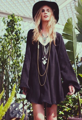 dress boho oversized oversized dress little black dress