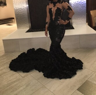 dress prom dress prom gown backless prom dress black dress floral dress lace dress beautiful gown long prom dress elegant dress long sleeve dress gorgeous prom beauty sexy prom dress blue prom dress black prom dress