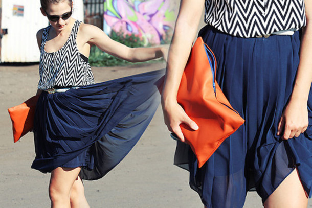 maxi trapeze print blue skirt purple skirt green skirt black skirt skirt