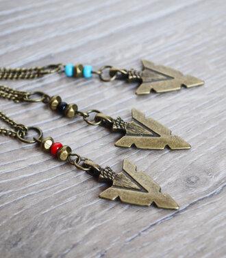 jewels arrow spearhead unisex tribal pattern necklace menswear women fashion accessories mens necklace love n lavish lovenlavish bow and arrow
