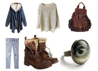 snow winter outfits soft grunge hipster sweater fuzzy sweater shoes leather backpack coat