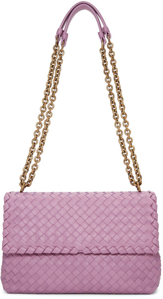 Bottega Veneta Pink Intrecciato Small Olimpia Chain Bag