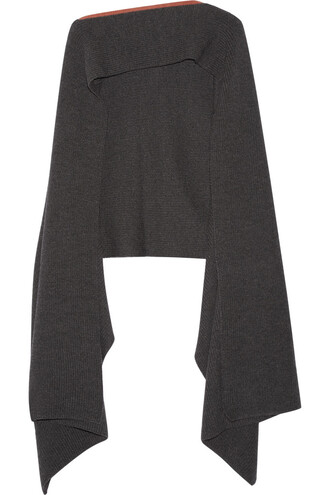 poncho wool dark top