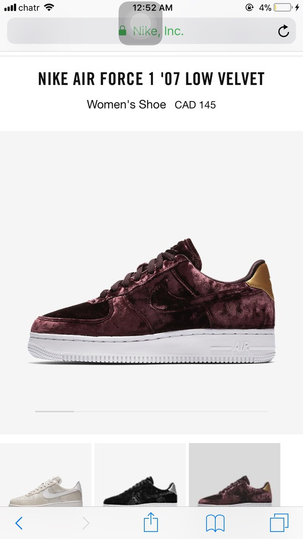 on sale 44d18 21c19 Nike - Air Force 1 metallic faux leather-trimmed crushed-velvet sneakers