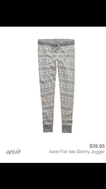pants fair isle ae heather grey knitwear