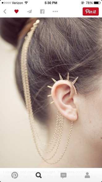 jewels gold jewelry earrings hair accessories spiked