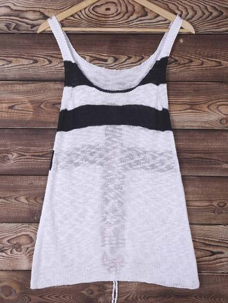tank top casual fashion style trendy black and white cover up cool gamiss