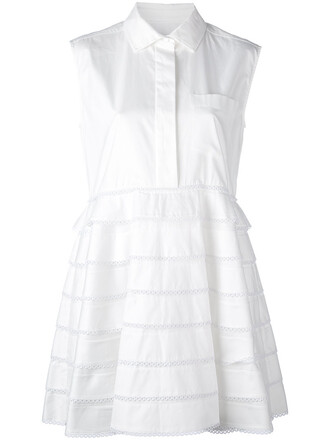 dress shirt dress women white cotton