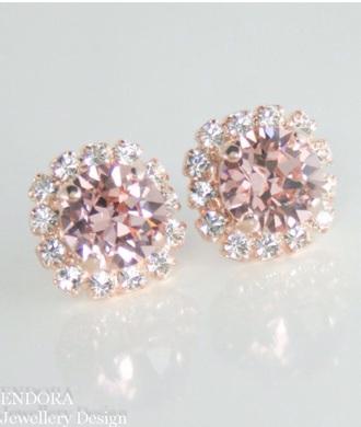 pink diamonds earrings