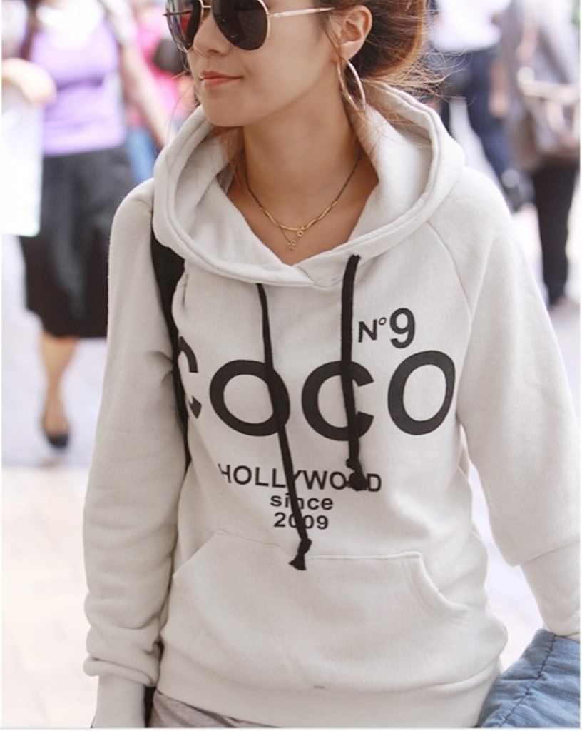 fashion design women coco hoodie sweatshirt tracksuits outerwear jacket nz015 ebay. Black Bedroom Furniture Sets. Home Design Ideas