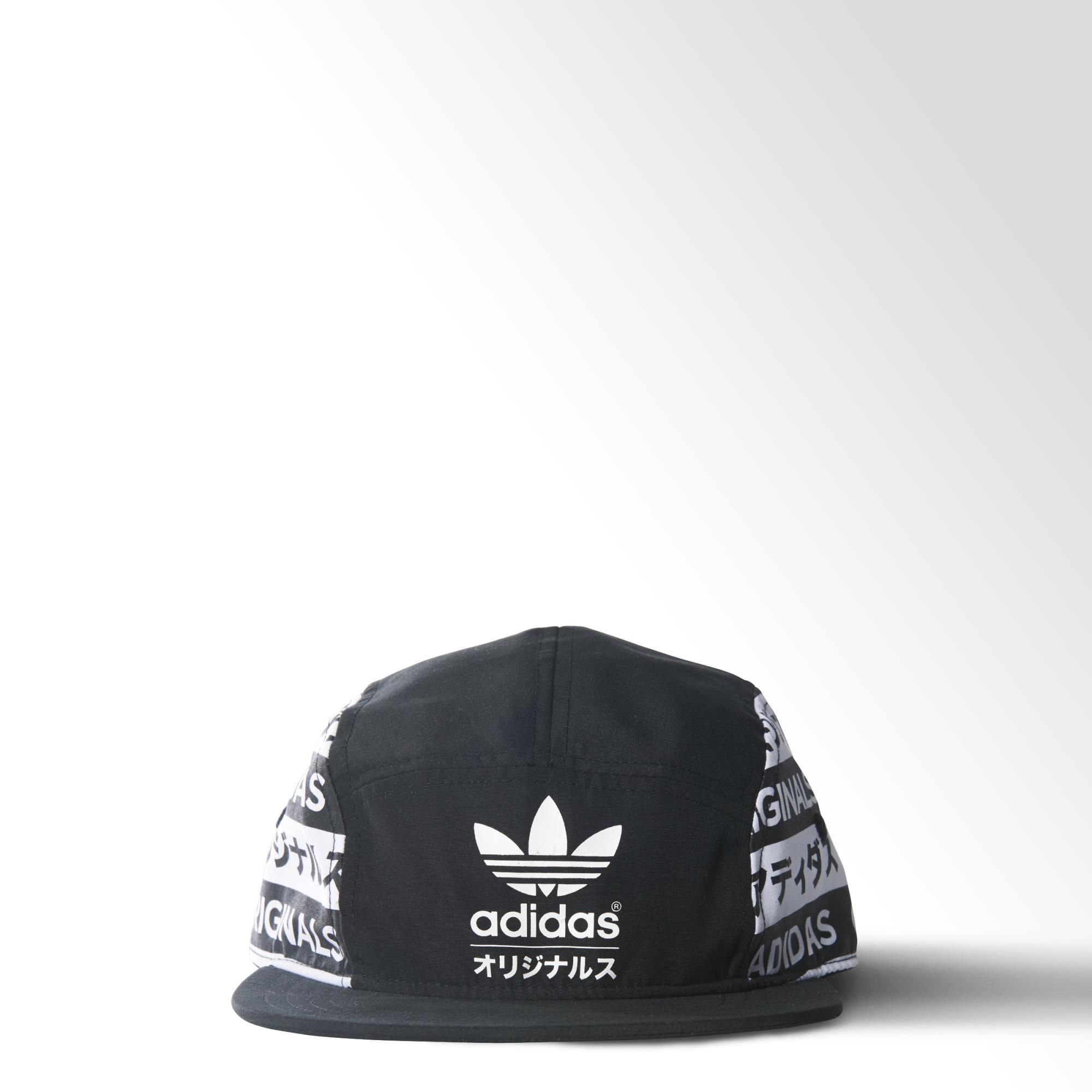 adidas Typo Flat-Brim Hat - Black  e1ebb8c9dd2