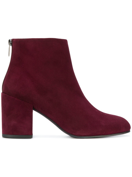 STUART WEITZMAN women leather suede red shoes