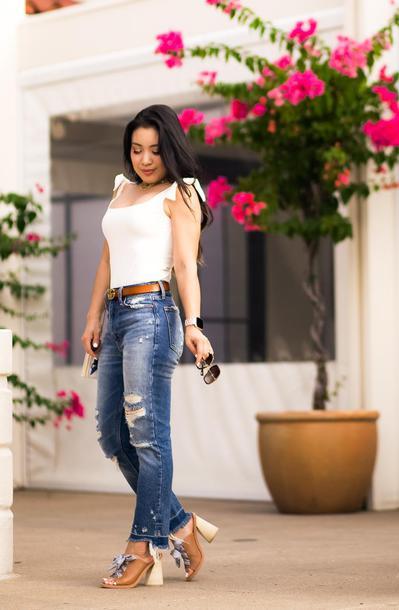 cute & little blogger jeans shorts belt shoes jewels bag sunglasses