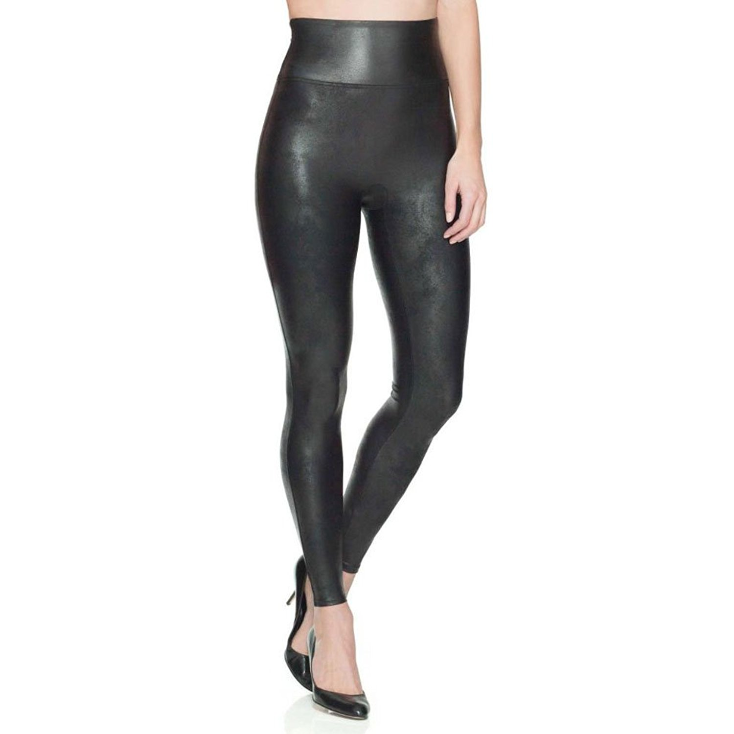 SPANX Women's Faux Leather Leggings at Amazon Women's Clothing store: