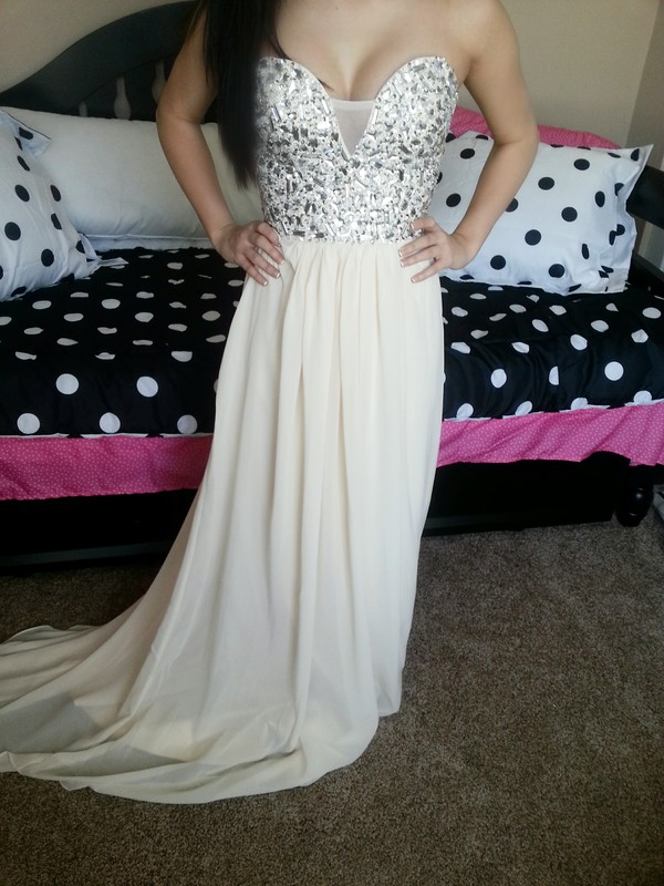 dress long prom dress prom dress white dress white prom dress beading prom dress prom dress