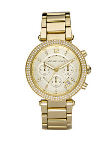Michael Kors Parker Glitz Watch, Golden - Michael Kors
