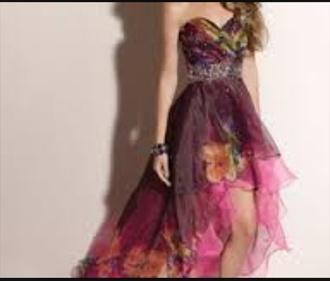 prom dress purple dress purple prom flowers short front long back