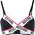 Moschino - brand tape bikini top - women - Polyamide/Spandex/Elastane - 2, Black, Polyamide/Spandex/Elastane