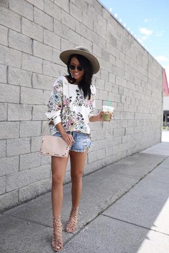 gypsytan blogger shorts shoes sweater bag belt jewels